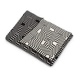 Belle & June - Black Geometric Cotton Blanket - Make a bold graphic statement with this geometrically patterned throw. This elegantly designed blanket is super soft, as it is made from 100 percent cotton. The neutral tones make this blanket a perfect match for any modern home.