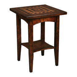 TerraSur - Renzo Square Side Table - Bring beauty into your life with this hand-distressed side table. Donate your old stained, water-ringed table; now you can have one with a special geometric pattern influenced by Spanish architecture.