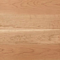 "Eddie Bauer Floors - Eddie Bauer Floors - Town & Country - American Black Cherry - Natural - Town & Country American Black Cherry creates the smooth elegance of a true square edge floor. Bold natural colors and character in traditional Northern Hardwoods. Each 5-1/2"" wide plank is six feet long and has a precision square edge so it looks like a ""sand and finish in place"" floor without distracting bevels."