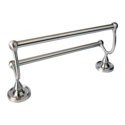 """Rusticware - Midtowne 24"""" Double Towel Bar, Satin Nickel - The Midtowne 24"""" Double Towel Bar in Satin Nickel from Rusticware features a round backplate.  The classic styling is sure to accentuate your bathroom's decor."""