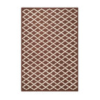 Safavieh - Milana Hand Tufted Rug, Dark Brown / Ivory 6' X 9' - Construction Method: Hand Tufted. Country of Origin: India. Care Instructions: Vacuum Regularly To Prevent Dust And Crumbs From Settling Into The Roots Of The Fibers. Avoid Direct And Continuous Exposure To Sunlight. Use Rug Protectors Under The Legs Of Heavy Furniture To Avoid Flattening Piles. Do Not Pull Loose Ends; Clip Them With Scissors To Remove. Turn Carpet Occasionally To Equalize Wear. Remove Spills Immediately. Bring classic style to your bedroom, living room, or home office with a richly-dimensional Safavieh Cambridge Rug. Artfully hand-tufted, these plush wool area rugs are crafted with plush and loop textures to highlight timeless motifs updated for today's homes in fashion colors.
