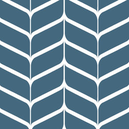 """Indigo Root - Tilez Peel & Stick Wallpaper Squares - Latte Chevron, Inky Blue, 12""""x12"""" 5-Pack - 12""""x12"""" Peel and Stick Tilez squares are made of a polyester fabric material and are environmentally safe. Bio-degradable over time. Since Tilez are non-toxic, they are great for infant and kids rooms! Transform small spaces. Refurbish old furniture. Create a non-slip dinner table runner. Tilez allows you to easily create stripes on a wall with in seconds! This material does not rip or wrinkle and is not required to be removed over time. Results may vary on stucco and other surfaces that are not smooth & clean."""