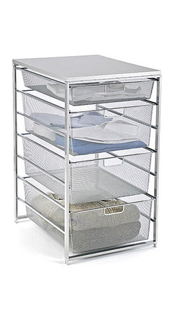 Platinum elfa Mesh Closet Drawers - These mesh drawers allow your clothing to breathe, eliminating DSDO (disgusting stale drawer odor).