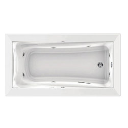 """American Standard - American Standard 3572.018WC.020 Green Tea 5-1/2' x 36"""" Whirlpool, White - American Standard 3572.018WC.020 Green Tea 5-1/2' x 36"""" EverClean Whirlpool,  White. This whirlpool tub features an acrylic construction with fiberglass reinforcement, a form-fitted neck support, a molded-in set of armrests with elbow supports, dual accessory deck areas, a pre-leveled tub bottom, an EverClean system that inhibits the growth of bacteria, mold, and mildew, a single-speed pump with air switch (on/off), 2 silent air volume controls, a quick connect Safe-T-Heater connection system (heater sold separately), and 8 multi-directional flow-adjustable jets, including 2 in the rotary area."""
