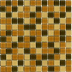 "Crayola - Decorative Glass Mosaics Wood 12"" x 12"" - This collection is 's translation of all the vibrancy and happiness of the world now available in 18 blends and 42 solid colors. The 1'x1' glass mosaic sheets can be used for indoor and outdoor applications."