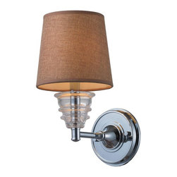 Joshua Marshal - One Light Polished Chrome Wall Light - One Light Polished Chrome Wall Light