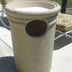 Garden and yard - When is the last time you saw a garbage can this beautiful?  With the Kutstone Trash Receptacle and it's optional bowl insert, you get discreet waste disposal for your outdoor space!  Not into flowers?  Fill the bowl insert with sand and you have an ashtray!