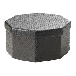 IKEA of Sweden - BLADIS Box with lid - Box with lid, black-brown