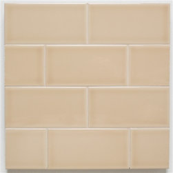 H Line- 3x6 Glossy Subway Tile- Straw - 10 Square Feet - H Line- 3x6 Glossy Subway Tile- Straw