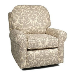Little Castle - Buckingham Recliner / Glider - Lay back for some quiet time with your newborn baby in the Buckingham Swivel Recliner Glider Rocker. The reclining feature makes this glider the perfect place to take it easy with head-to-toe, full body support. Pair the Buckingham Swivel Recliner Glider Rocker with additional pieces from the Little Castle collection for a complete seating set. Features: -Reclining feature.-Smooth gliding feature.-High arms assist cradling.-Wider seat allows extra room for comfort.-Tall back provides head, neck and back support.-Any little castle item is non cancellable.-1.8 Soft foam.-Hardwood frame with triple reinforced.-Foam core wrapped with polyester fiber.-Buckingham collection.-Collection: Buckingham.-Distressed: No.-Upholstered Seat Cushion: Yes .-Country of Manufacture: United States.Dimensions: -38'' H x 35'' W x 41'' D, 60 lbs.-Overall Product Weight: 60 lbs.
