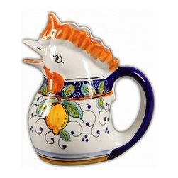 Ceramic - Italian Lemons Rooster Pitcher - Italian Lemons Rooster Pitcher