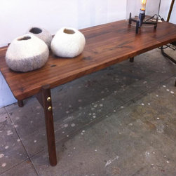 For SALE - Low walnut coffee table.