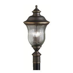 Kichler - Kichler 9932OZ 3 Light Post Light from the Sausalito Collection - Kichler 9932 Sausalito Outdoor Post Light