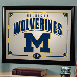 Home Decorators Collection - Sports Team College Framed Mirror - Show your team spirit with style by hanging the Sports Team Framed Mirror in any part of your home decor. Wonderfully depicting your favorite college team, this wall decor has the brilliant color and lasting quality you'll be proud to display. Get yours ordered now.Quality-made with a stylish wood frame.Mirror features skillfully printed team colors and logo.An ideal gift idea for your biggest sports fan or for yourself.