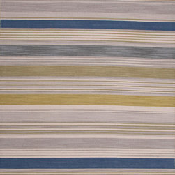 Jaipur Rugs - Flat Weave Stripe Pattern Green Wool Handmade Rug - PV28, 2x3 - Bold color is the name of the game with Pura Vida. This beautiful collection of durable, reversible flat-woven dhurries combines the classic simplicity of linear patterns with a decidedly modern palette for a look that's at once casual and sophisticated.