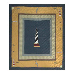 Patch Quilts - Light House Trail Quilt Queen - - Intricately appliqued and beautifully hand quilted.Bedding ensemble from Patch Magic  - The Name for the finest quality quilts and accessories  - Machine washable.Line or Flat dry only Patch Quilts - QQLHTR