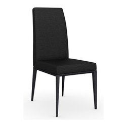 Calligaris - Bess Chair, Graphite Legs, Denver A08 (Anthracite) Seat - Complete your modern dining room with simply superb seating. This sleek, handsome chair is made in Italy for total comfort and understated style.