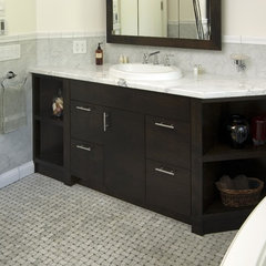 traditional powder room by Old World Kitchens & Custom Cabinets