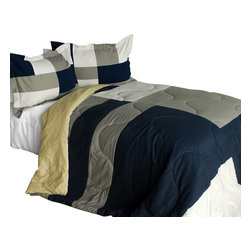 Blancho Bedding - [Esprit Spice] Quilted Patchwork Down Alternative Comforter Set-Twin - The [Esprit Spice] Patchwork Comforter Set (Twin Size) includes a quilted down alternative comforter and a sham. This luxury comforter set is handmade and some quilting may be slightly curved. The luxury handmade comforter set makes a stunning and warm gift for you and a loved one! For convenience, all bedding components are machine washable on cold in the gentle cycle and can be dried on low heat and will last for years. Elaborate vermicelli quilting provides a rich surface texture. This vermicelli-quilted comforter set will refresh your bedroom decor instantly, create a cozy and inviting atmosphere and is sure to transform the look of your bedroom or guest room. Enjoy a good night's sleep in this luxurious comforter set. (Dimensions: Twin comforter: 67.7 inches x 87.7 inches; Standard sham: 24 inches x 33.8 inches)