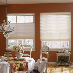 Bali - Bali Casual Classics Roman Shades: Fenton - The Fenton collection of Bali Casual Classics roman shades features a silky polyester fabric with a horizontal weave that features subtle color variations and light slubs, similar to silk fabrics.