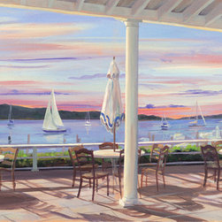 Murals Your Way - Tables By The Bay Wall Art - Painted by Carol Saxe, the Tables by the Bay wall mural from Murals Your Way will add a distinctive touch to any room