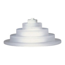"""Lightolier - Lightolier Style Jack Step Cone 6 1/4"""" Wide Track Pendant - This modern mini pendant light shade features an interesting step cone shade for a striking look. A mini track pendant shade with a decorative step style and a suspension kit that includes the canopy, transformer, and etched glass diffuser (pieces sold separately). The track power jack allows you to connect this shade to Lightolier track systems. Perfect over a bar, island, or in a bathroom, this design offers soft brightness for your home."""