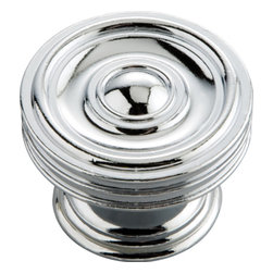 Belwith / Hickory - Belwith Hickory 1-5/8 In. Concord Chrome Cabinet Knob  P3130-CH Hardware - Classic lines, finishes and styles create a warm and comforting feel.  Usually 18th-century English, 19th-century neoclassic, French country and British Colonial revival.  Use of classic styling and symmetry creates a calm orderly look.. Product Name: 1-5/8 In. Concord Chrome Cabinet Knob Finished: Chrome FinishIncluded: Mounting Hardware IncludedSize . Type: DiameterScrew Center to Center in Inches: Diamter: 1.625Diamension Length in Inches: 1.63Diamension Width Inches: 1.63Diamension Height Inches: 1.19Weight in OZ: 3.5Product . Type: KnobsStyle: TraditionalFinish Name: ChromeAppearance . Finish: Reflective (Mirror)Color Palette: Silvers/GreysBasic Shape: Geometric/Angular
