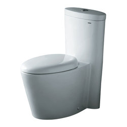 Ariel - Ariel CO1009 Monterey Contemporary One Piece White Toilet w/ Dual Flush - Ariel cutting-edge designed one-piece toilets with powerful flushing system. It's a beautiful, modern toilet for your contemporary bathroom remodel.