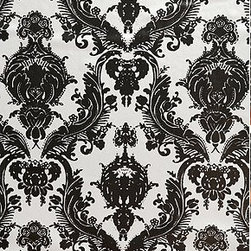 Damsel Wall Paper, Metallic - Bold wallpaper makes any size room seem very important.
