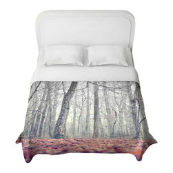DiaNoche Designs - It's in the Wood Duvet Cover - Lightweight and super soft brushed twill duvet cover sizes twin, queen, king. Cotton poly blend. Ties in each corner to secure insert. Blanket insert or comforter slides comfortably into duvet cover with zipper closure to hold blanket inside. Blanket not included. Dye Sublimation printing adheres the ink to the material for long life and durability. Printed top, khaki colored bottom. Machine washable. Product may vary slightly from image.