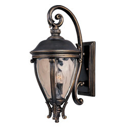 Maxim Lighting - Maxim Lighting Camden VX Outdoor Wall Mount Light Fixture in Golden Bronze - Shown in picture: Maxim Lighting's Camden VX Collection is made with Vivex - a material twice the strength of resin - is non-corrosive - UV resistant and backed with a 3-Year Limited Warranty. Camden VX is available in our Black or Golden Bronze finish and our Water Glass.