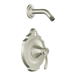 """Moen - Moen T2502NHBN Brushed Nickel Shower Valve Trim, 1-Handle 1-Function Cartridge - Moen T2502NHBN is part of the VESTIGE bath collection. Moen T2502NHBN is a new bathroom decor style by Moen. Moen T2502NHBN has a Brushed Nickel finish. Moen T2502NHBN Posi-Temp Shower valve only trim fits any MPact common valve system or MPact Posi-Temp 1/2"""" valve available separately. Moen T2502NHBN is part of the Vestige bath collection with its richly detailed lines featuring nostalgic designs and accents that complement traditional decor for today's homes. Moen T2502NHBN Shower valve trim includes single-function pressure balancing Cartridge. Back to back capability. Moen T2502NHBN is a single handle shower valve trim only, the handle adjusts temperature. Moen T2502NHBN valve only single handle trim provides for ease of operation. Moen T2502NHBN does not include a showerhead. (Sold separately) Moen T2502NHBN Posi-Temp pressure balancing valve maintains water pressure and controls temperature. Moen T2502NHBN is ADA approved. Brushed Nickel has a Lifeshine finish guarantee from Moen and provides style and durability. Moen T2502NHBN metal lever handle meets all requirements ofADA ICC/ANSI A117.1 and CSA to meet CSA B-125, ASME A112.18.1 M. Lifetime Limited Warranty."""