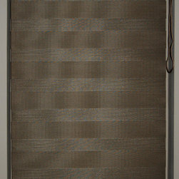 "Dual Shades, Soft 34""~35""W x 71""L, Dk. Brown, 34"" W - Dual shade is new style of window treatment that is combined good aspect of blinds and roller shades"