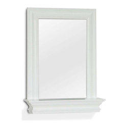 Elegant Home Fashions - Stratford Wall Mirror with Shelf - 18W x 24H in. Multicolor - 6650 - Shop for Bathroom Mirrors from Hayneedle.com! This Stratford Wall Mirror with Shelf is an elegant accent piece for your bathroom. Beautiful crown molding makes this mirror stand out.