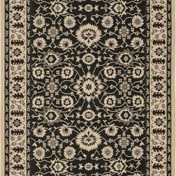 """Safavieh - Safavieh Courtyard CY6126-16 6'7"""" x 9'6"""" Black, Creme Rug - Safavieh's Courtyard collection was created for today's indoor/outdoor lifestyle. These beautiful but practical rugs take outdoor decorating to the next level with new designs in fashion-forward colors and patterns from classic to contemporary. Made in Turkey with enhanced polypropylene for extra durability, Courtyard rugs are pre-coordinated to work together in related spaces inside or outside the home."""