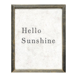 Hello Sunshine Simplicity Vintage Reclaimed Wood Wall Art