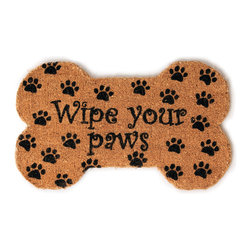 Entryways - Wipe Your Paws Hand Woven Coconut Fiber Doormat - Designed by an artist, this distinctive mat is a work of art that will add a welcoming touch to any home. It is from Entryways' handmade collection and meets the industry's highest standards. This decorative mat is handsomely hand woven and hand stenciled.