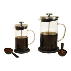 8-cup Coffee Press with Heat-Resistant Glass and Coaster