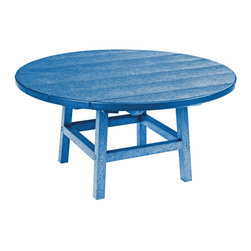 """C.R. Plastic Products - C.R. Plastics 37"""" Round Table In Blue - Can be used for residential or commercial use, Ergonomically designed, Heavy 78 gauge plastic lumber 12 used by competitors, All stainless steel hardware, No painting, No slivers, No Rot, Completely waterproof"""