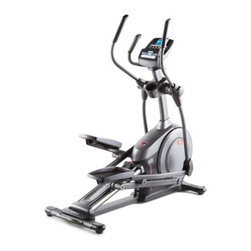 ProForm 510 E Front Drive Elliptical Trainer - 610 E front drive elliptical trainer18 preset workout appsCommercial-gauge steel constructionInertia-enhanced flywheelSmooth and silent magnetic resistanceFully adjustable 18-20 inch stride length6 position ramp adjusts from 0 to 20 degrees275-lbs. user weight capacityiPod compatible interface with 2-inch speakersSoft-touch upper body grips and oversized pedalsPowered by Google Maps5-inch iFit backlit display with apps, wifi, message center, and moreFront-mounted transport wheelsWater bottle holderAssembled dimensions: 68L x 26W x 68H inchesManufacturer's warranty included (see product guarantee)About ICON Health & FitnessFounded in 1977, ICON is dedicated to changing lives with fitness innovation. The company originally entered the health and fitness industry with the manufacturing of treadmills before swiftly expanding their product line to include treadmills, exercise bikes, and home gyms. Now one of the largest manufacturers of fitness equipment in the world, ICON employs nearly 4,000 people in 11 locations around the world. In addition to manufacturing, the company performs its own marketing, research, development and industrial design for all products. It is ISO 9001-certified, meeting the international standard of quality for manufacturers. With nearly 200 patents for innovations and new technology, ICON and its associated brands, including NordicTrack, EPIC, Proform, and Weslo, are committed to pushing the envelope and providing high-performance products.
