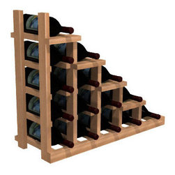 Wine Cellar Innovations - Waterfall Falling Right; WineMaker: Rustic Pine, Unstained - The Waterfall1 Display provides the perfect showcase for the prized wine bottles you would like to show off. Assembly Required.