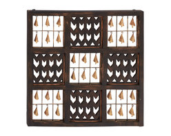 Benzara - Elegant and Beautiful Style Wood Bell Wall Panel Home Decor - Description: