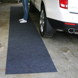 None - Ultra Thin Garage Floor Runner - Durable Ultra-Thin Garage Floor Runner,is a perfect solution for your garage,and work areas. Material contains five times its weight in moisture and protects from other abrasive harmful materials.