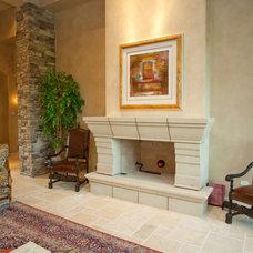 Contemporary Indoor Fireplaces by Gander Builders