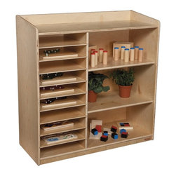Wood Designs - Wood Designs Sensorial Discovery Shelving without Trays Multicolor - WD15139 - Shop for Childrens Toy Boxes and Storage from Hayneedle.com! About WDM Inc.For 30 years Wood Designs has put passion for the enrichment and safety of children into quality wooden early learning furniture. Dennis and Debbie Gosney the couple behind this labor of love have taken their 50 years combined experience in child development furniture manufacturing and built a company at the forefront of innovation and safety. Intuitive design coupled with novel safety features like Pinch-me-not hinges and Tip resistant furniture set Wood Designs apart from the typical early learning furniture manufacturers.
