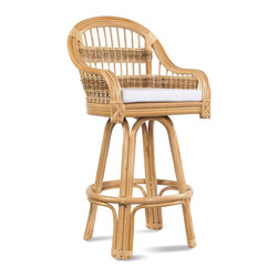 Rattan Bar Stool Tropical Breeze - Tropical Breeze Wicker Bar Stool: