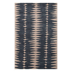 Jaipur Rugs - Hand-Tufted Geometric Pattern Wool Taupe/Ivory Area Rug ( 5X8 ) - En Casa is the design collection of Cuban born, Queens, NY raised painter and surface designer, Luli Sanchez. This collection is based off of her painterly works of art that capture an organic and moody yet optimistic spirit. Her hand drawn florals and geometrics were truly inspiring for this Hand Tufted collection.
