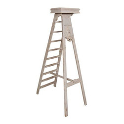 Pre-owned Vintage French Bank Ladder - This charming white ladder was ...
