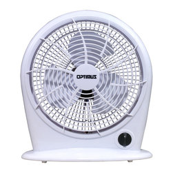 Optimus - 10-inch Personal Fan Stylish 3 Speed Energy - You know you're a real star when you get your own personal fan. Put this one on your desktop, nightstand or anywhere you need to feel cool and fresh. It's whisper quiet and includes different speeds, and there's no assembly required.