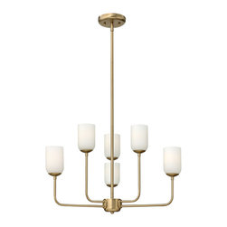 Hinkley Lighting - Hinkley Lighting 4216BC Harlow Brushed Caramel 6 Light Chandelier - Hinkley Lighting 4216BC Harlow Brushed Caramel 6 Light Chandelier